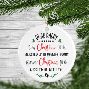 Dear Daddy Personalised Christmas Tree Decoration Bauble