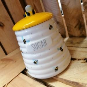 Ceramic Worker Bee Sugar Caddy
