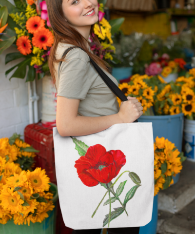 Poppy Tote Bag Flower Shop