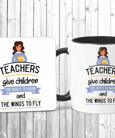 Teachers Give Children Mug And Coaster Set